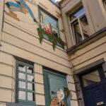 bd - comic stripmur - muur - wallRic Hochet (Tibet et Duchâteau)Rue de Bon Secours - Bijstandsstraat© visit.brussels - Jean-Paul Remy - 2018