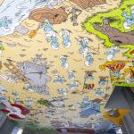 Fresque Schtroumpf près de la Gare CentraleSmurfenmuur in de buurt van het Centraal StationCarrefour de l'Europe - Europakruispunt© Peyo - Lic. IMPS (Brussels) - www.smurf.com - picture visit.brussels - Eric Danhier - 2018